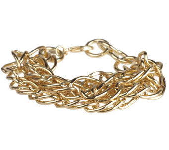 """As Is"" Linea by Louis Dell' Olio Bold Curb Link Chain Bracelet - J334025"