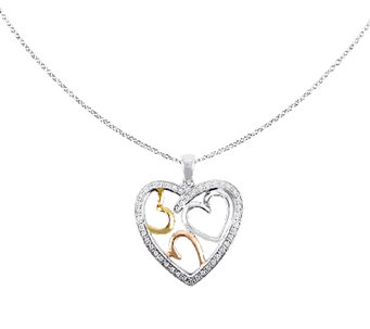 "Sentimental Expression Sterling 18"" ""Bond of Love"" Necklace - J336325"