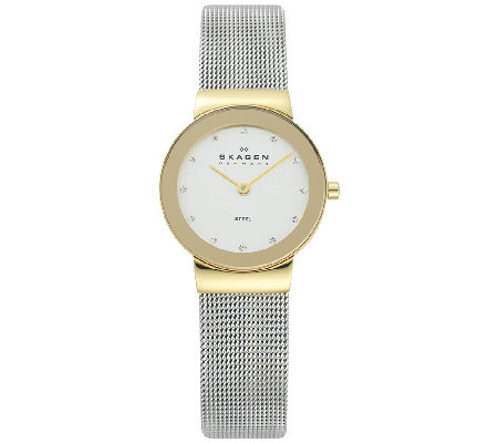 Skagen Women's Two-Tone Mesh Bracelet Watch