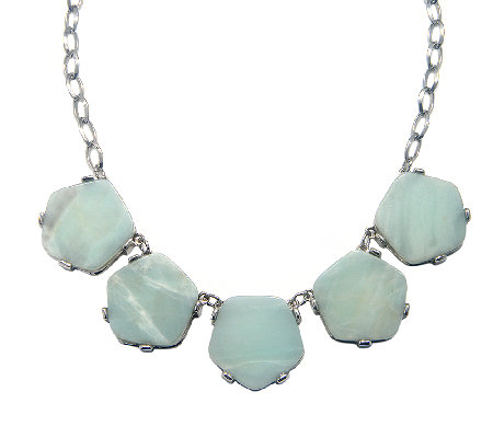 Capwell Pentagonal Amazonite Drift Necklace