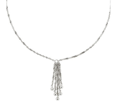 "Sterling Multi-Chain Dangle 16"" Necklace by Silver Style"
