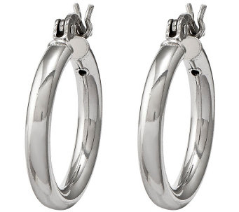 Sterling Silver Round Hoop Earrings by Silver Style - J342125