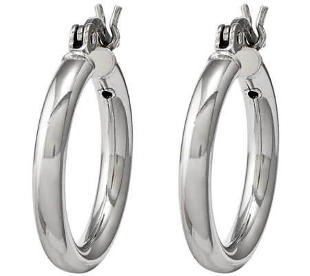 Sterling Silver Round Hoop Earrings by Silver Style