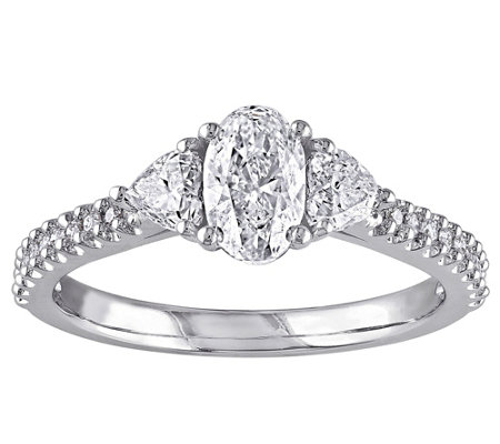 Oval, Heart, & Round Diamond Ring, 1 cttw, 14Kby Affinity
