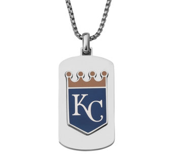 Men's MLB Royals Stainless Steel Dog Tag with Chain - J343725