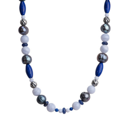 "Carolyn Pollack Sterling Blue Gemstone 21"" Necklace"