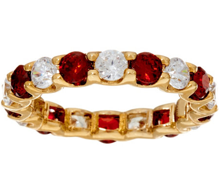 Grace Kelly Collection Simulated Ruby & Diamond Eternity Ring