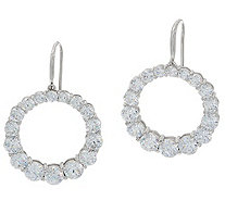 Diamonique Royal Collection Circle Dangle Earrings, Sterl - J356125