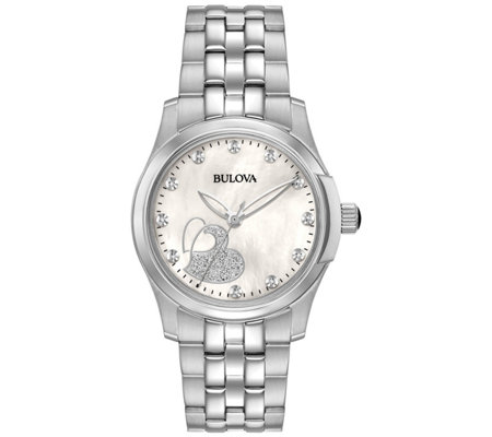 Bulova Women's Diamond Stainless Steel Watch