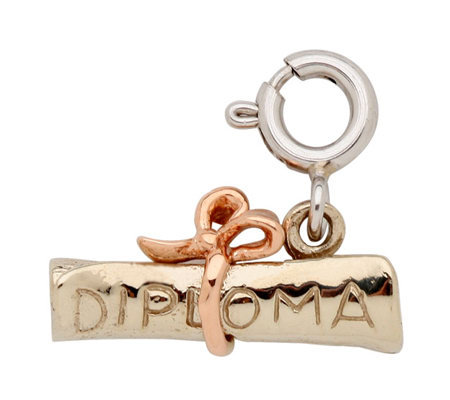 14K Yellow Gold 3-D Diploma Charm
