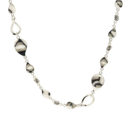 "Michael Dawkins Sterling Petal and Rondel 18"" Toggle Necklace"