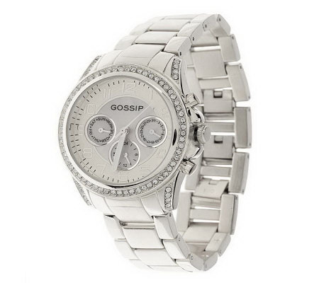 Gossip Multifunction Boyfriend Watch with Mother of Pearl Dial