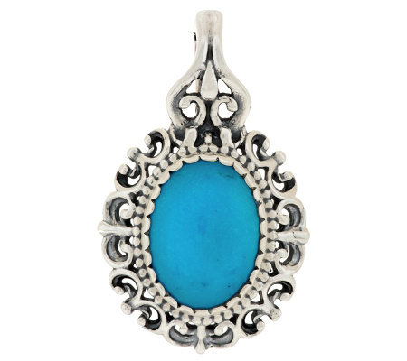 Carolyn Pollack Turquoise Sterling Filigree Enhancer
