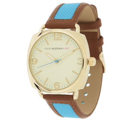 Isaac Mizrahi Live! Strap Watch with Trim Trim