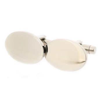 Forza Men's Steel Oval-Shaped Cuff Links - J297226
