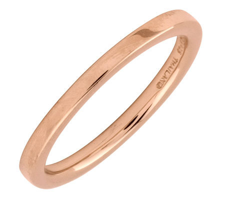 Simply Stacks Sterling 18K Rose Gold-Plated 2.25mm Flat Ring