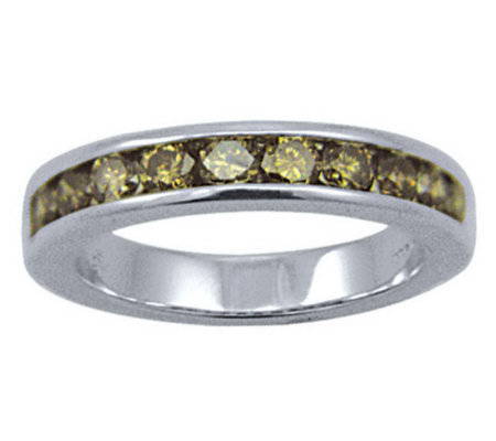 Diamond Band Champagne Ring, 14K Gold, 1 cttw,by Affinity