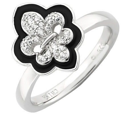 Simply Stacks Sterling Polished Fleur De Lis Ring