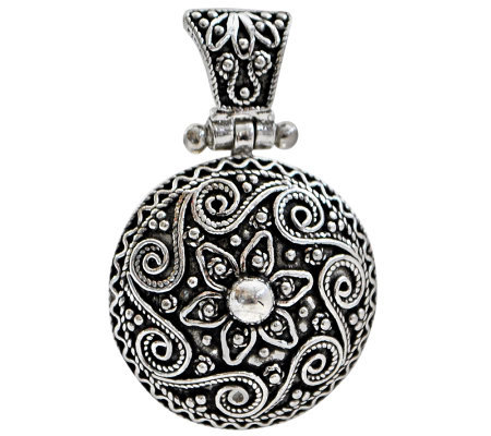 Artisan Crafted Sterling Round Floral Pendant