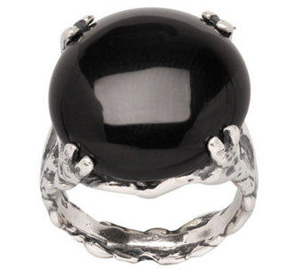 Or Paz Sterling Onyx Ring - J309626