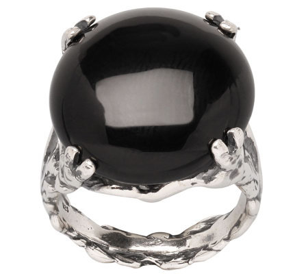 Or Paz Sterling Onyx Ring