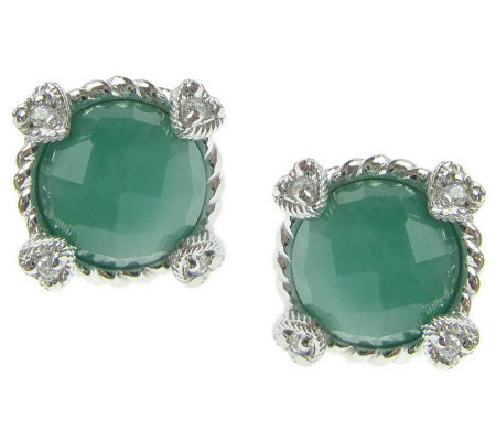 Judith Ripka Sterling Birthstone Stud Earrings