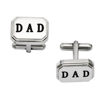 "Forza Men's Stainless Steel ""DAD"" Cuff Links - J313826"