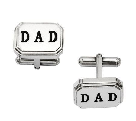 "Forza Men's Stainless Steel ""DAD"" Cuff Links"