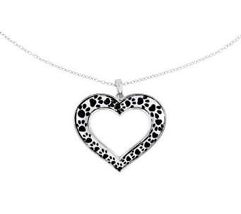 "Sentimental Expressions Sterling 18"" Animal Lover's Necklace - J315026"