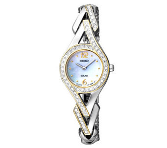Seiko Women's Two-Tone Mother-of-Pearl Swarovski Accent Watch - J315426