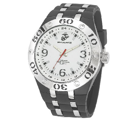 Wrist Armor Men's U.S. Marine Corps C22 White &Black Watch