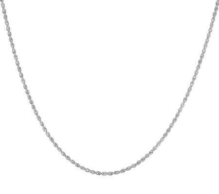 "VicenzaGold 16"" Rope Chain Necklace 14K, 1.2g"