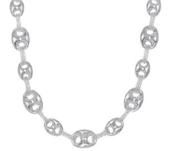 "Sterling Silver 20"" Marine Link Chain Necklace by Silver Style - J320526"