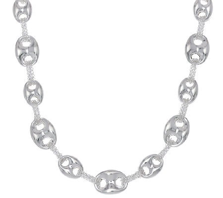 "Sterling Silver 20"" Marine Link Chain Necklace by Silver Style"