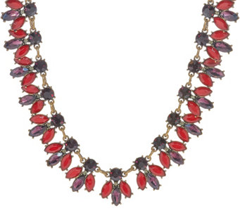 "Joan Rivers Crystal Bees 18"" Necklace w/ 3"" Extender - J322726"