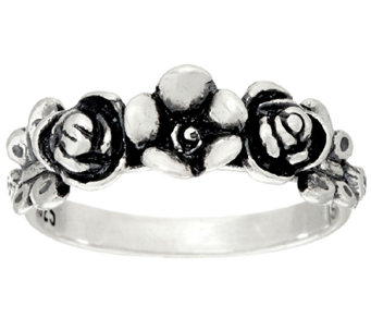 Sterling Silver Garden Design Ring by Or Paz - J323126
