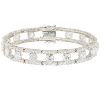 The Elizabeth Taylor Simulated Round Diamond Bracelet - J323526