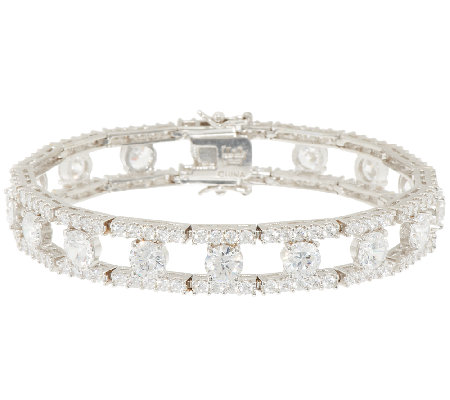 The Elizabeth Taylor Simulated Round Diamond Bracelet