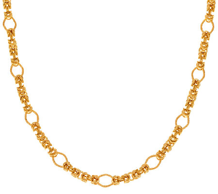 "Veronese 18K Clad 30"" Fancy Byzantine Necklace"