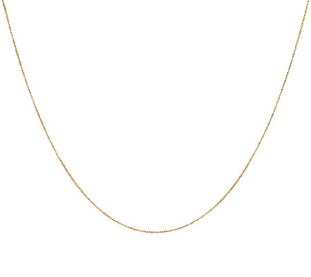 "18K Gold 20"" Adjustable Box Chain, 1.6g"