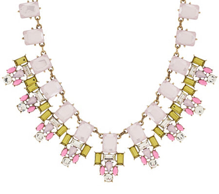 """As Is"" Joan Rivers Crystal Geometry 18"" Statement Necklace"