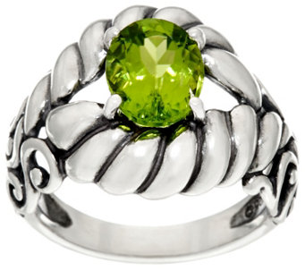 Carolyn Pollack Sterling Silver Brilliant 2.40cttw Oval Peridot Ring - J331026