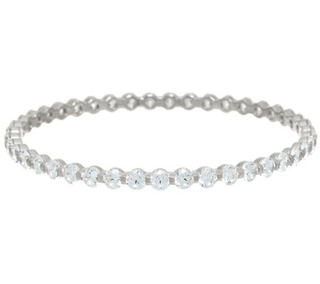 """As Is"" Diamonique 14.35 cttw Small Bangle, Ster.or 14KClad"