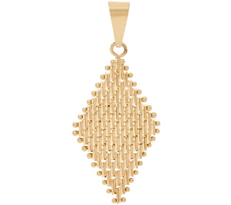 Imperial Gold Lame' Marquise Shaped Pendant 14K Gold
