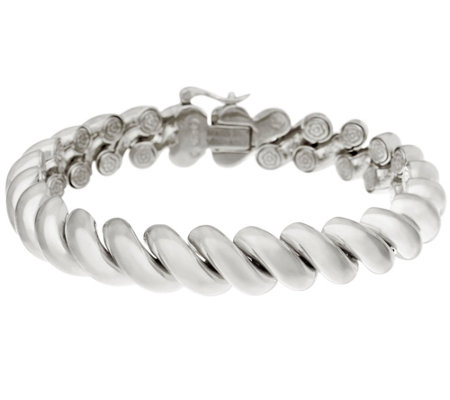 """As Is"" Sterling 8"" San Marco Bracelet by Silver Style"