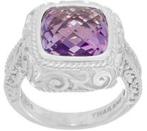 DeLatori Sterling Silver Faceted Gemstone Ring - J352326