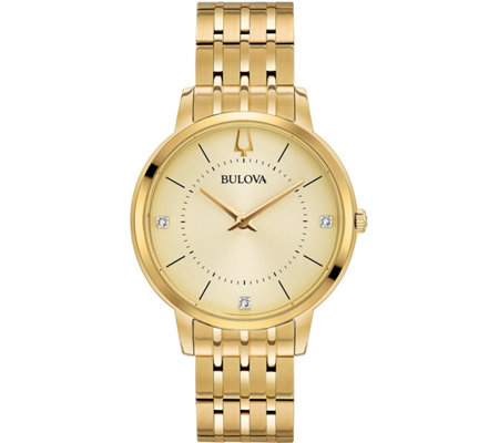 Bulova Women's Goldtone Classic Diamond Watch