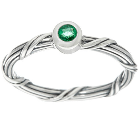 Peter Thomas Roth Sterling Emerald Signature Romance Ring