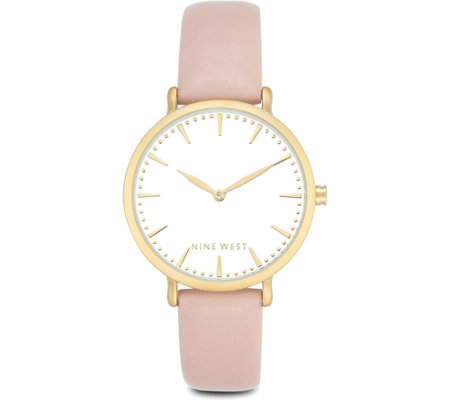 Nine West Ladies Arisallie Pink Strap Watch