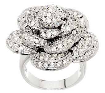 Wendy Williams Dimensional Pave' Rose Ring - J266427
